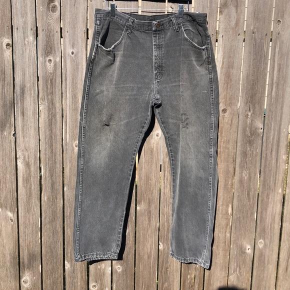 Men's Vintage Rustler Pants/ Grey Wash / 38/30